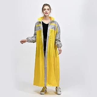 Raincoat, Long Thin Raincoat Women Trench Coat Impermeable Rain Jacket Ponchos Waterproof Pullover Women's Breathable Rain Coat,Yellow,XXXL