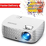 Projector, GooDee BL98 Native 1080P HD Video Projector, Touch Keys Home Theater Projector with...