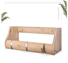 Hang aan de muur Planken Bamboe Drijvende Plank Kapstokken Open Rekken Wandmontage Thuis Muur Decor Voor Slaapkamer, Badka...