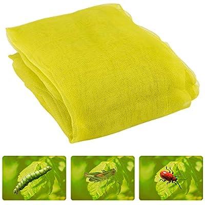 Anphisn 2 Pack Garden Insect Screen Insect Barrier Netting Mesh Bird Netting 6.5ft × 6.5ft (Green)