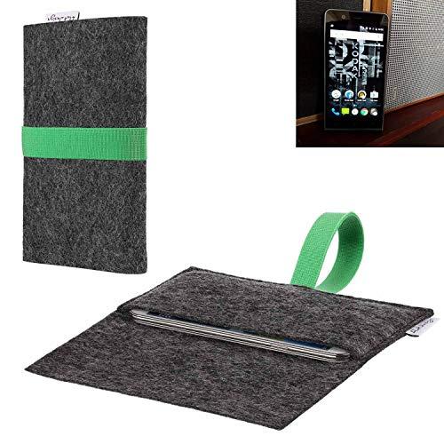 flat.design vegane Handy Hülle Aveiro für Kodak Ektra passgenaue Filz Tasche Case Sleeve Made in Germany