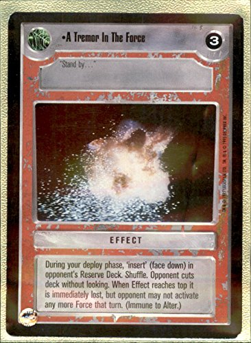 - A TREMOR IN THE FORCE - 1995 Star Wars CCG Premiere - Expansion Set [Base] #NoN