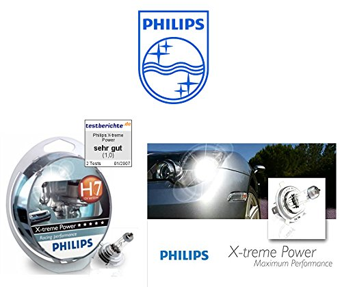 Philips H7 X-Treme Power 80 % mehr Licht 2er Set 55W