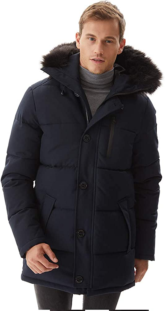 Gorgeous PUREMSX Mens Winter Jacket Thickened Milwaukee Mall Hooded Quilted P Waterproof