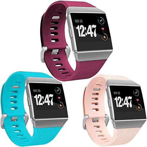 """Wepro Fitbit Charge 2 Bänder, Ersatz für Fitbit Charge 2 HR-Bänder, Schnalle, 15 Farben, groß, klein, 02-Teal/Blush Pink/Fuchsia, Small 5.5""""-6.7"""""""