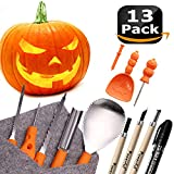 Powerful 12 PCS Pumpkin Carving Tools Kit Knife Set for Kids Professional DIY Halloween...