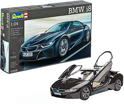 Revell- BMW i8 Maqueta Coche, Color Negro (07008)