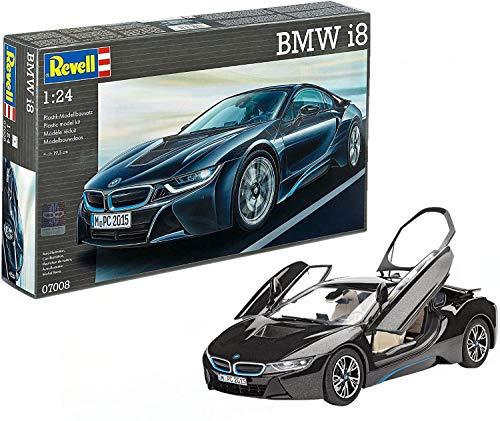 Revell Modellbausatz Auto 1:24 - BMW i8 im Maßstab 1:24, Level 4, originalgetreue Nachbildung mit vielen Details, 07008