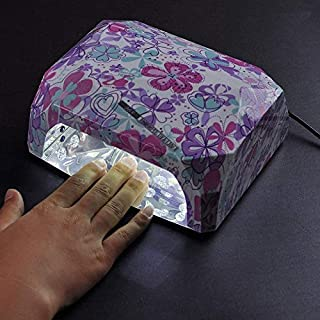Genuine 36W Nail Dryer Nail Gel Polish Diamond Shape Led Uv Lamp For Curing Dryer Nail Art Tools With Auto Sensor Champagne