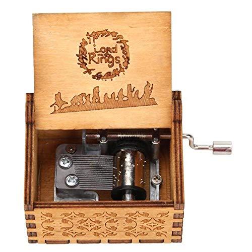 TXGIRWAO Retro Wooden Hand Cranked Music Box Home Crafts Ornaments Children Gifts