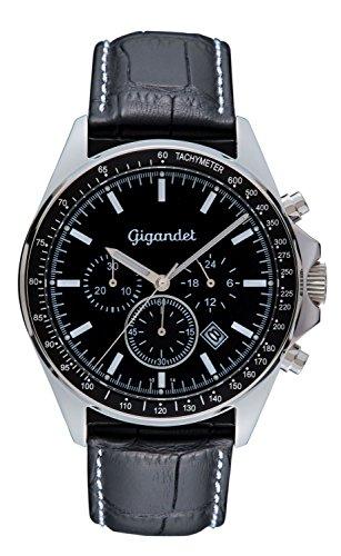 Gigandet Herrenuhr Chronograph Quarzwerk Analog mit Lederarmband Volante G3-001