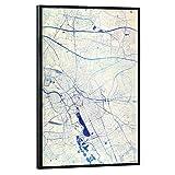 artboxONE Poster mit schwarzem Rahmen 45x30 cm Städte