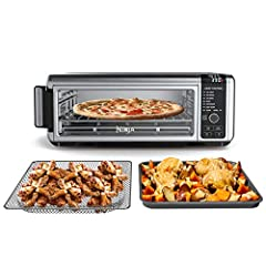 The ultimate meal-making machine with 8-in-1 functionality: air fry, air roast, air broil, bake, bagel, toast, dehydrate, and keep Warm all in one powerful 1800-watt appliance. Reclaim your counter space: takes up 50% less space when you flip it up a...
