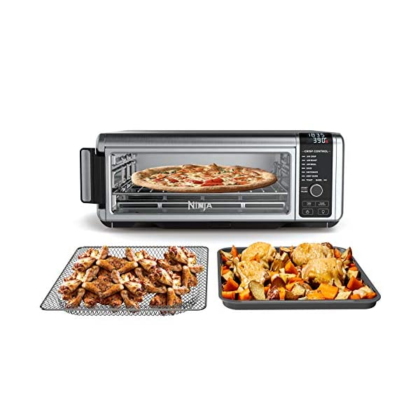 Ninja Foodi Digital Fry, Convection Oven, Toaster, Air Fryer, Flip-Away for Storage, with XL Capacity, and a Stainless Steel Finish
