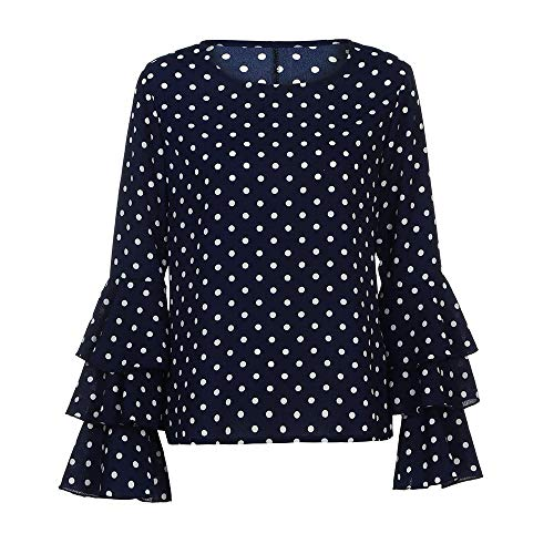 Chiffon Bluse 3/4 Arm Schulterfrei V-Ausschnitt Langarmshirts Elegante Kleider Damen Tunika Blusen Leicht Asymmetrisch Shirt mit Volant Trompetenärmeln Carmenbluse Cut Out Shirt Loose Fit Oberteile