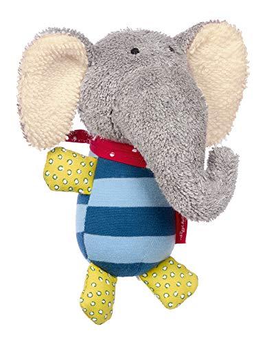 SIGIKID Mädchen und Jungen, Greifling mit Glöckchen Lolo Lombardo, Babyspielzeug, empfohlen ab 3 Monaten, blau/grau, 39246