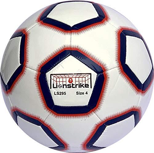 Pallone da Calcio Lionstrike Taglia 4 Lite - Pallone da Allenamento Leggero per Ragazzi Ragazze dai 7 ai 13 Anni