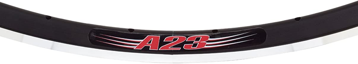 Velocity A-23, 700c, 32h Black/Silver with Machined Sidewall