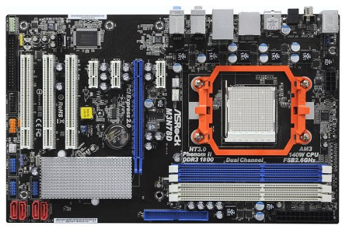 ASRock M3N78D Mainboard Sockel AMD AM3 nF720d 4X DDR3 Speicher ATX