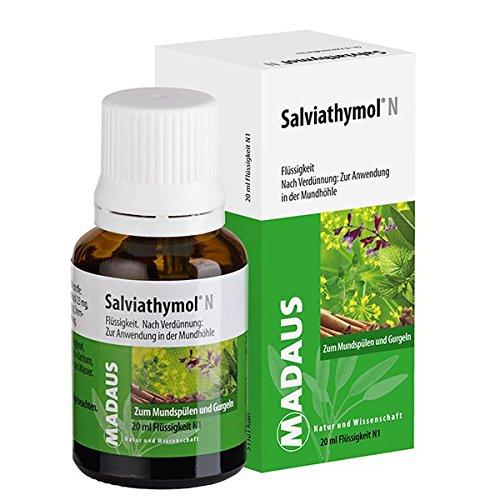 Salviathymol N Madaus Spar-Set 3x20ml. Konzentrat zum Mundspülen und Gurgeln. Bekämpft leichte, schmerzhafte Entzündungen in Mund und Rachen und hemmt unangenehmen Mundgeruch
