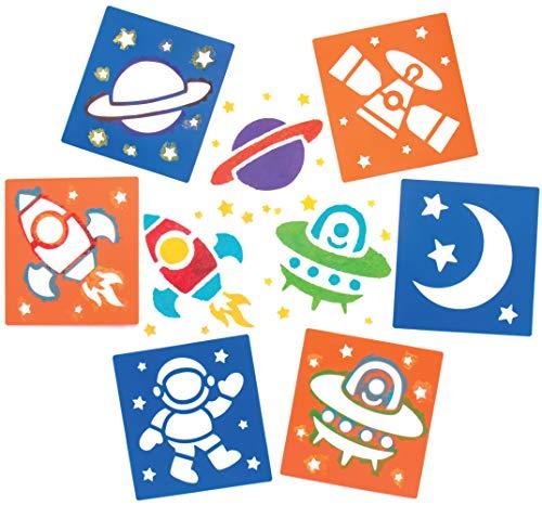 Baker Ross- Plantillas del Sistema Solar (Pack de 6) para manualidades infantiles