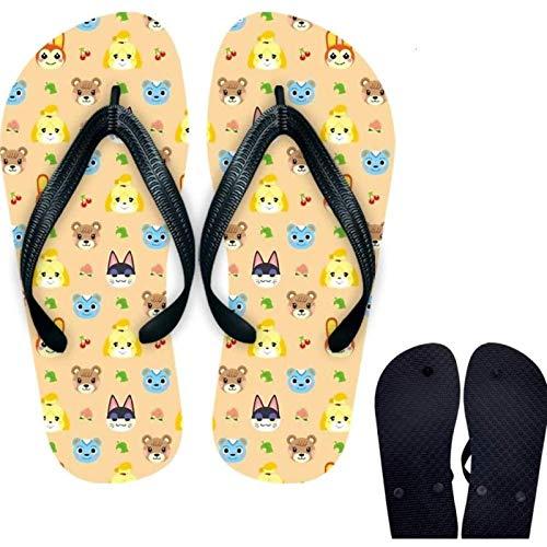 buyaoku Animal Crossing Toy Animal Crossing Game Zapatillas periféricas Zapatillas de animación de Dibujos Animados bidimensionales Zapatillas Sandalias Zapatos para el hogar