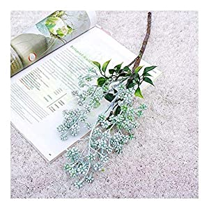 KTZAJO 2021 The Latest Artificial Plants,102CM Fake Flower Winter Jasmine Fake 7-pronged Silk Flower Artificial Orchid Bouquet Home Office Wedding Decoration Dried Flower (Color : White)