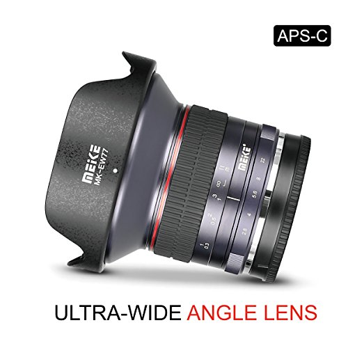 Meike 12mm F/2.8 Ultra Wide Angle Manual Foucs Prime Lens for Sony E Mount APS-C Mirrorless Cameras A7III A9 NEX 3 3N 5 NEX 5T NEX 5R NEX 6 7 A6400 A5000 A5100 A6000 A6100 A6300 A6500, etc