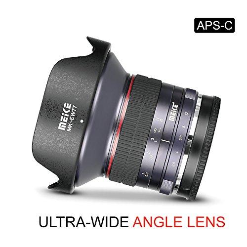 Meike 12mm F2.8 Ultra Wide Angle Manual Focus Lens for Sony E Mount APS-C Mirrorless Cameras NEX 3 5T NEX 6 7 A6400 A6600 A6000 A6100 A6300 A6500,etc