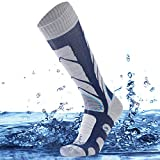 SuMade Knee High Waterproof Hiking Socks, Men Women Tall Long Cushioned Moisture Wicking Breathable...