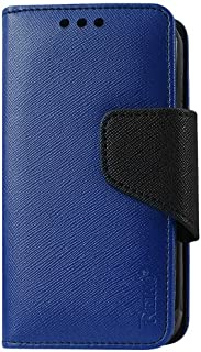 Reiko 3-in-1 Wallet Case for Alcatel One Touch Evolve 5020T - Retail Packaging - Navy