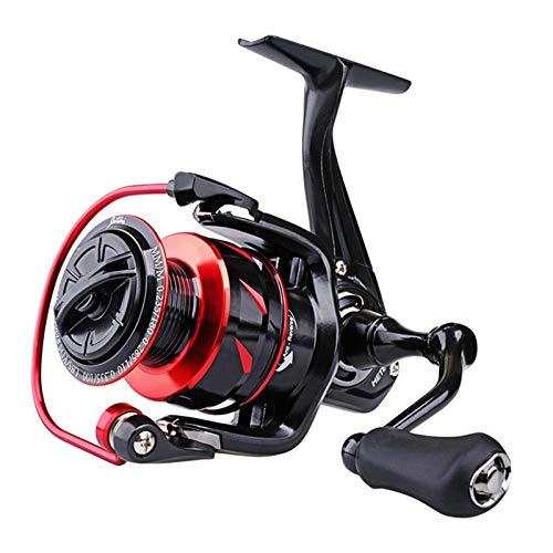 liuchenmaoyi Rollo de Pesca Base Spinning Reel Manija de Aluminio MAX Drag 8kg 9 + 1bb y Spool 5.2: 1 Velocidad Multicolor Wheel Carpa Carretes de Pesca Rollo de Hilado de Agua Salada