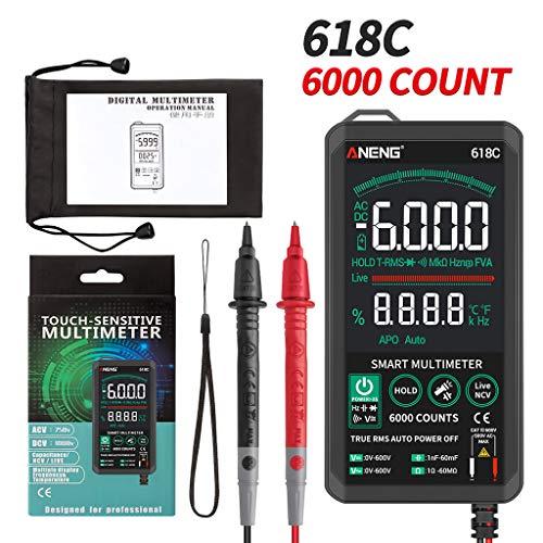 chenpaif 618C Multímetro Digital táctil Inteligente Probador analógico CC/CA True RMS Condensador...