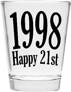 Shot Glass - Happy 21st Birthday Gift - Celebrate Turning Twenty One 21 (1998)