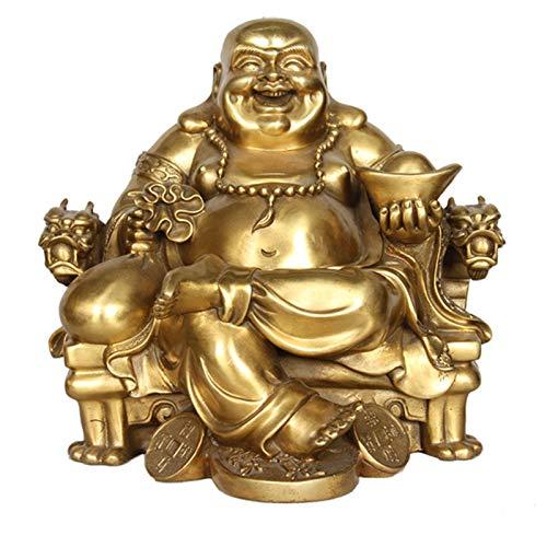 XDYFF Bouddha Rieur Statue Feng Shui Figurines, Bouddha Qui