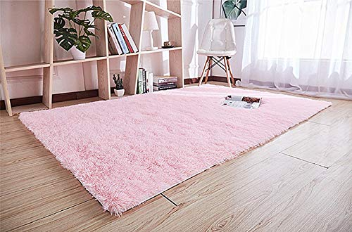 LIYINGKEJI Ultra Suave Alfombras para niños Alfombras de habitación Shaggy Area Rugs Home Decor 60 X 120 cm (Rosa (Rectangular))