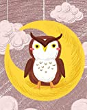 Xofjje Pintar por Numeros_Animal de Dibujos Animados de búho_Adultos Niños DIY Pintura por Números_con Pinceles y Pinturas_20x30cm_Sin Marco