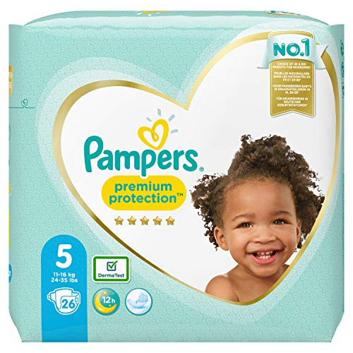 Pampers Premium Protection Größe 5, 26 Windeln, 11kg-16kg