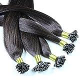 Just Beautiful Hair 200 x 0.8g REMY Extensiones de queratina - 40cm, colore #22 rubio...