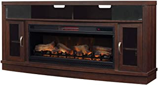 Classic Flame Deerfield Cabinet Antique Brown Cherry & 42