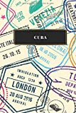Cuba: Cuaderno de diario de viaje gobernado o diario de viaje: bolsillo de viaje forrado para hombres y mujeres con líneas