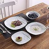 VEWEET, Tafelservice 'Aviva' aus Porzellan 24 teilig | Geschirrset beinhaltet Müslischalen, Dessertteller, Speiseteller und Suppenteller| Geschirrservice für 6 Personen - 2
