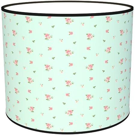 Abat-jours 7111309517793 Imprimé Jeanne Lampe de Chevet, Tissus/PVC, Multicolore