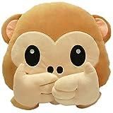 LI&HI AFFE Emoji Lachen Emoticon Kissen Polster Dekokissen Stuhlkissen Sitzkissen Rund(Wuzui)