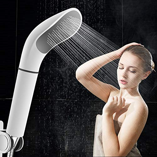Cabezal de Ducha, Ducha de Lluvia Cabezal de Ducha Blanco Cabezal de Ducha Filtro de Ahorro de Agua Boquilla de pulverización Ahorro de Agua de Alta presión