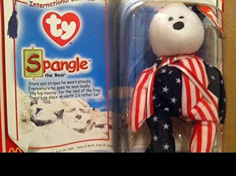 Ty International Bears SPANGLE Teenie Beanie Baby APRIL 24, 1999 .HN#GG_634T6344 G134548TY70416