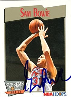 Autograph Warehouse 42690 Sam Bowie Autographed Basketball Card New Jersey Nets 1991 Hoops No. 481