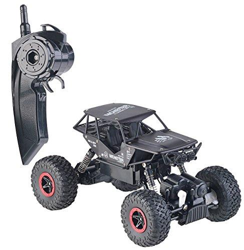Simulus RC automóvil: Camión Monstruo a Control Remoto Rock Crawler, Radio de 2,4 GHz, 12 kilómetros por Hora (Camión Monstruo Control Remoto)