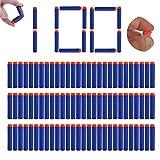 OMZGXGOD Fléchettes Nerf, 100 flèches fléchettes pour Accessoires Nerf, flèches de Recharge de 7,2 cm fléchettes Pack fléchettes pour Pistolet Jouet N-Strike Elite Blasters (Darkblue, 100)