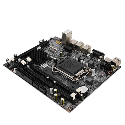 Klein desktop moederbord, CPU-slot voor LGA1156 DDR3 1333/1066 MHz geheugen Geïntegreerde geluidskaart / grafische kaart / netwerkkaart 3 * SATA 4 * USB 2.0 krachtig moederbord